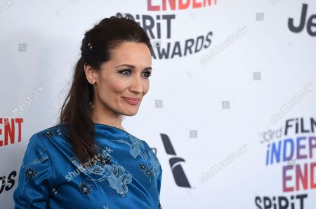 Stock Photo of Ana Asensio arrives at the 33rd Film Independent Spirit Awards, in Santa Monica, Calif