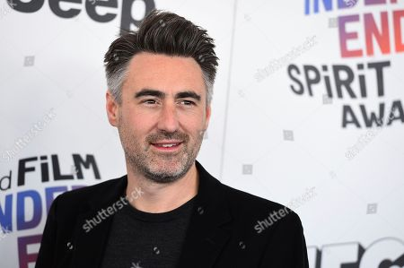 Stock Image of William Oldroyd arrives at the 33rd Film Independent Spirit Awards, in Santa Monica, Calif
