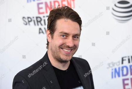 Stock Image of Jonathan Olshefski arrives at the 33rd Film Independent Spirit Awards, in Santa Monica, Calif