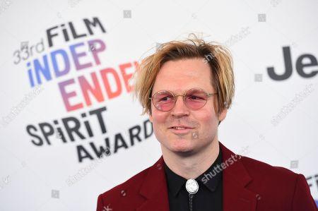 Geremy Jasper arrives at the 33rd Film Independent Spirit Awards, in Santa Monica, Calif
