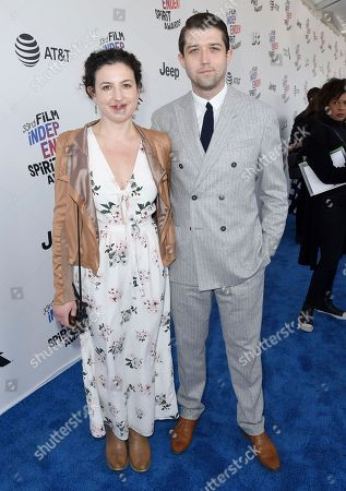 Kate Barker-Froyland, Thomas Jeppesen Froyland. Kate Barker-Froyland, left, and Thomas Jeppesen Froyland arrive at the 33rd Film Independent Spirit Awards, in Santa Monica, Calif
