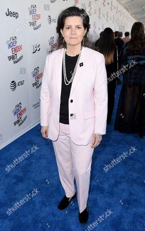 Tatiana S. Riegel arrives at the 33rd Film Independent Spirit Awards, in Santa Monica, Calif
