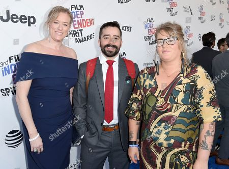 Daniela Taplin Lundberg, Matty Brown, Mel Eslyn. Daniela Taplin Lundberg, from left, Matty Brown, and Mel Eslyn arrive at the 33rd Film Independent Spirit Awards, in Santa Monica, Calif