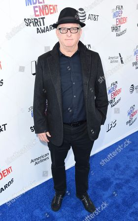Stock Image of Uri Singer arrives at the 33rd Film Independent Spirit Awards, in Santa Monica, Calif