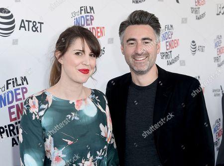 Stock Image of William Oldroyd, Paula Vaccaro. Paula Vaccaro, left, and William Oldroyd arrive at the 33rd Film Independent Spirit Awards, in Santa Monica, Calif