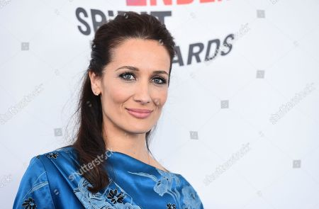 Stock Image of Ana Asensio arrives at the 33rd Film Independent Spirit Awards, in Santa Monica, Calif
