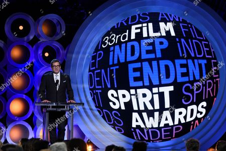 Josh Welsh at the 33rd Film Independent Spirit Awards, in Santa Monica, Calif
