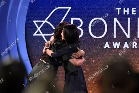 Ava DuVernay, Chloe Zhao. Ava DuVernay, left, embraces Chloe Zhao, winner of the Bonnie award, at the 33rd Film Independent Spirit Awards, in Santa Monica, Calif