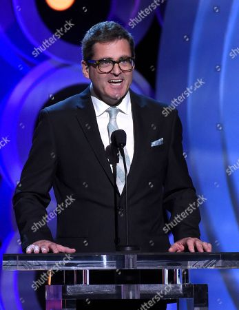 President of Film Independent, Josh Welsh, speaks at the 33rd Film Independent Spirit Awards, in Santa Monica, Calif