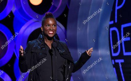 Effie T. Brown speaks at the 33rd Film Independent Spirit Awards, in Santa Monica, Calif