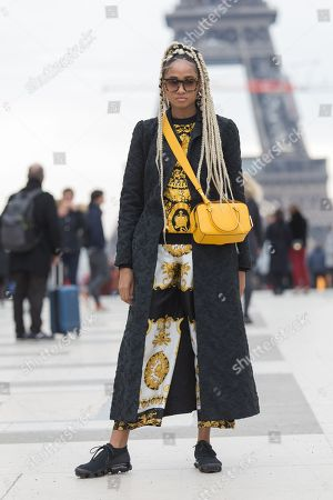 Editorial picture of Street Style, Fall Winter 2018, Paris Fashion Week, France - 03 Mar 2018