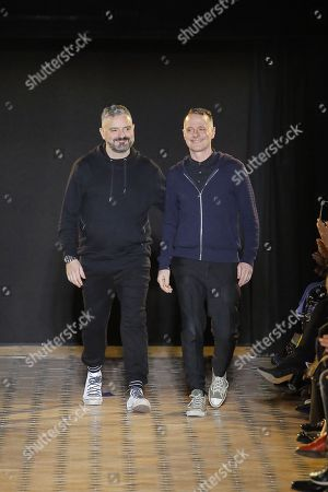 Stock Picture of Adrian Runhof and Johnny Talbot on the catwalk
