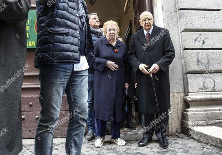 Giorgio Napolitano and Clio Napolitano
