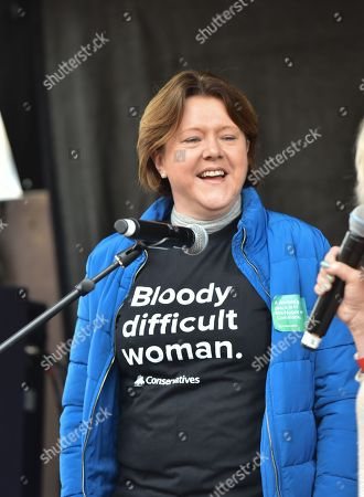 Maria Miller MP. The March4Women march in central London to celebrate International Women?s Day and 100 years since women in the UK first gained the right to vote.