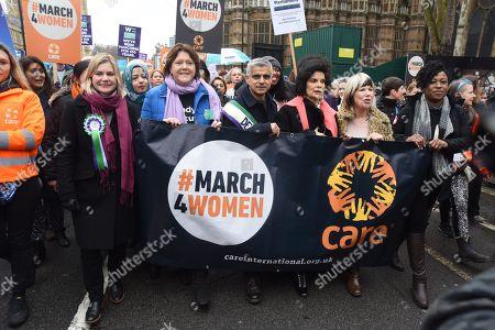 Justine Greening MP, Maria Miller MP, Sadiq Khan, Bianca Jagger, Jude Kelly