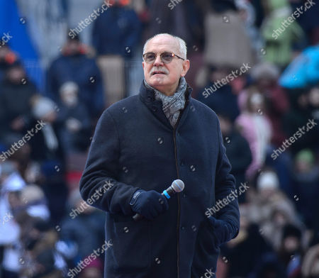 Chairman of the Union of Cinematographers of Russia, film director Nikita Mikhalkov during the rally