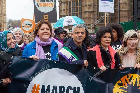 Maria Miller MP, Sadiq Khan, Bianca Jagger lead the march