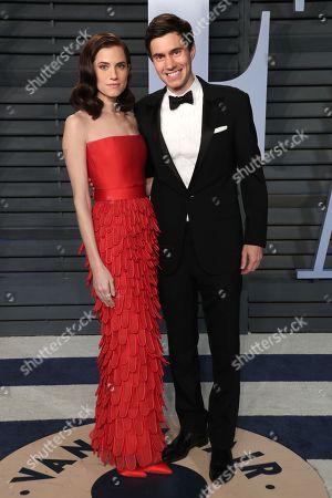 Stock Photo of Allison Williams and Ricky Van Veen