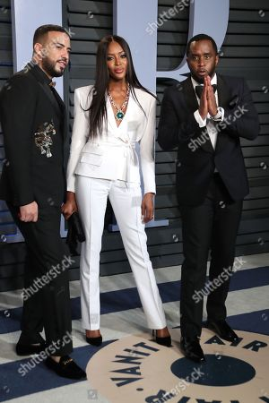 French Montana, Sean Combs and Naomi Campbell