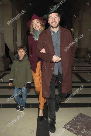 Stock Photo of Arizona Muse, Boniface Verney-Carron and child Nikko Muse