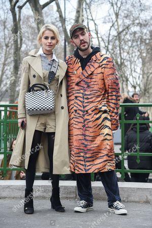 Editorial photo of Street Style, Fall Winter 2018, Paris Fashion Week, France - 04 Mar 2018