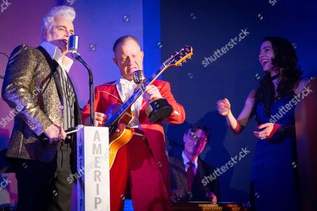 Dale Watson and Jim Heath, Reverend Horton Heat, recipient of 2018 Keeper of the Key Award