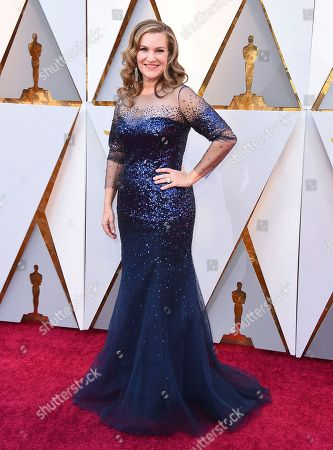 Krista Smith arrives at the Oscars, at the Dolby Theatre in Los Angeles