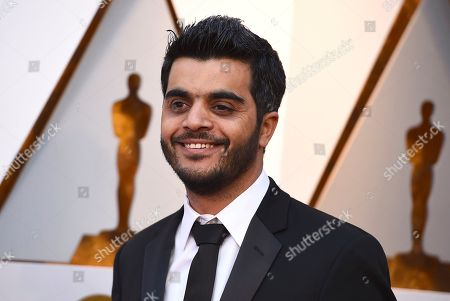 Kareem Abeed arrives at the Oscars, at the Dolby Theatre in Los Angeles