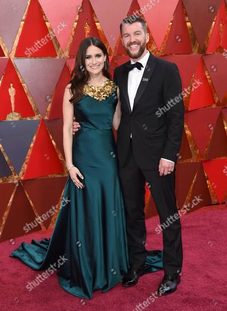 Stock Image of Elaine McMillion Sheldon, Kerrin Sheldon. Elaine McMillion Sheldon, left, and Kerrin Sheldon arrive at the Oscars, at the Dolby Theatre in Los Angeles