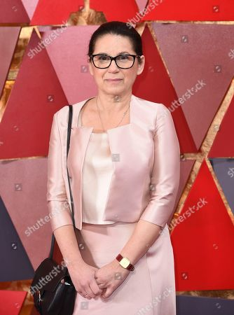Ildiko Enyedi arrives at the Oscars, at the Dolby Theatre in Los Angeles