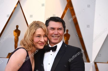 Yvonne Boismier Phillips, Lou Diamond Phillips. Yvonne Boismier Phillips, left, and Lou Diamond Phillips arrive at the Oscars, at the Dolby Theatre in Los Angeles
