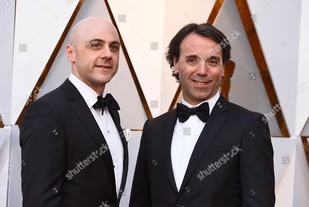 Nathan Robitaille, Nelson Ferreira. Nathan Robitaille, left, and Nelson Ferreira arrive at the Oscars, at the Dolby Theatre in Los Angeles