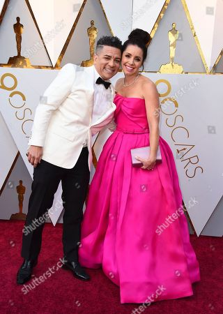 Stock Picture of Carlos Saldanha, Isabella Scarpa Saldanha. Carlos Saldanha, left, and Isabella Scarpa Saldanha arrive at the Oscars, at the Dolby Theatre in Los Angeles