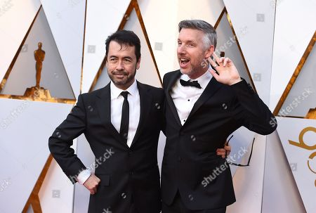 Ren Klyce, Matthew Wood. Ren Klyce, left, and Matthew Wood arrive at the Oscars, at the Dolby Theatre in Los Angeles