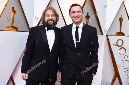 Paul Machliss, Jonathan Amos. Paul Machliss, left, and Jonathan Amos arrive at the Oscars, at the Dolby Theatre in Los Angeles