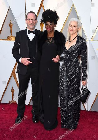 David Heilbroner, Breaion King, Kate Davis. David Heilbroner, from left, Breaion King, and Kate Davis arrive at the Oscars, at the Dolby Theatre in Los Angeles