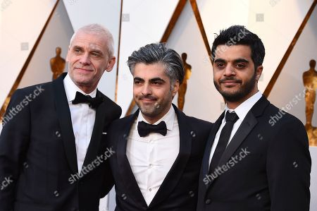 Soren Steen Jespersen, Feras Fayyad, Kareem Abeed. Soren Steen Jespersen, from left, Feras Fayyad, and Kareem Abeed arrive at the Oscars, at the Dolby Theatre in Los Angeles