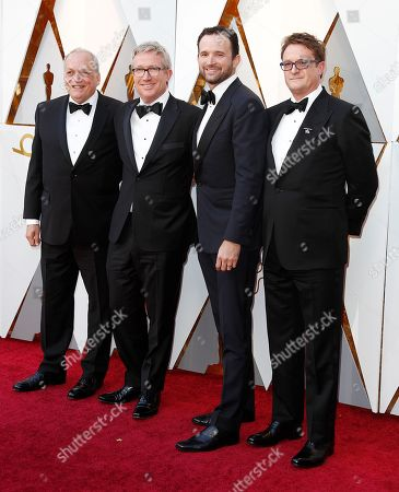 Joe Letteri, Daniel Barrett, Dan Lemmon and Joel Whist arrive for the 90th annual Academy Awards ceremony at the Dolby Theatre in Hollywood, California, USA, 04 March 2018. The Oscars are presented for outstanding individual or collective efforts in 24 categories in filmmaking.