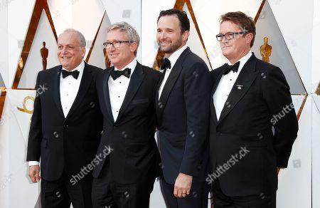 Stock Picture of Joe Letteri, Daniel Barrett, Dan Lemmon and Joel Whist arrive for the 90th annual Academy Awards ceremony at the Dolby Theatre in Hollywood, California, USA, 04 March 2018. The Oscars are presented for outstanding individual or collective efforts in 24 categories in filmmaking.