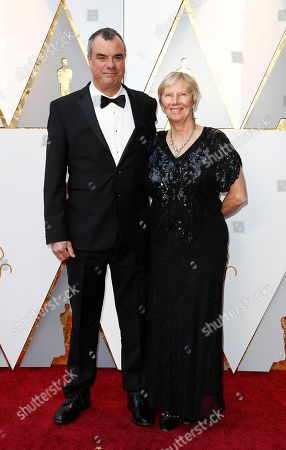 Stock Picture of Chris Corbould (L) and guest arrives for the 90th annual Academy Awards ceremony at the Dolby Theatre in Hollywood, California, USA, 04 March 2018. The Oscars are presented for outstanding individual or collective efforts in 24 categories in filmmaking.