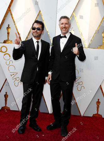 Ren Klyce (L) and Matthew Wood arrive for the 90th annual Academy Awards ceremony at the Dolby Theatre in Hollywood, California, USA, 04 March 2018. The Oscars are presented for outstanding individual or collective efforts in 24 categories in filmmaking.