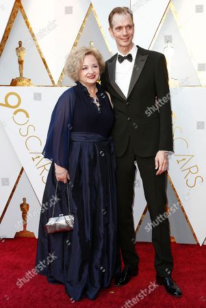 Doug Jones (R) and Laurie Jones (L) arrive for the 90th annual Academy Awards ceremony at the Dolby Theatre in Hollywood, California, USA, 04 March 2018. The Oscars are presented for outstanding individual or collective efforts in 24 categories in filmmaking.