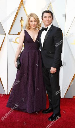 Lou Diamond Phillips (R) and Yvonne Boismier Phillips (L) arrives for the 90th annual Academy Awards ceremony at the Dolby Theatre in Hollywood, California, USA, 04 March 2018. The Oscars are presented for outstanding individual or collective efforts in 24 categories in filmmaking.