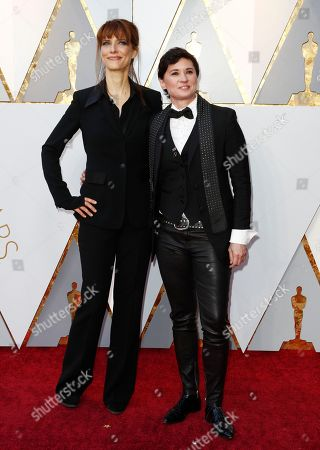 Kimberly Peirce (R) and guest arrive for the 90th annual Academy Awards ceremony at the Dolby Theatre in Hollywood, California, USA, 04 March 2018. The Oscars are presented for outstanding individual or collective efforts in 24 categories in filmmaking.
