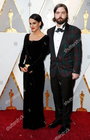 Stock Image of Laura Checkoway (L) and guest arrive for the 90th annual Academy Awards ceremony at the Dolby Theatre in Hollywood, California, USA, 04 March 2018. The Oscars are presented for outstanding individual or collective efforts in 24 categories in filmmaking.