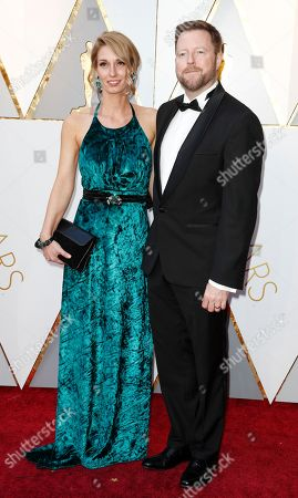 Stock Picture of Mac Ruth (R) and guest arrives for the 90th annual Academy Awards ceremony at the Dolby Theatre in Hollywood, California, USA, 04 March 2018. The Oscars are presented for outstanding individual or collective efforts in 24 categories in filmmaking.