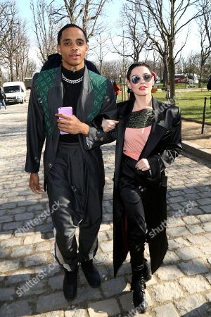 Cordell Broadus and Rose McGowan