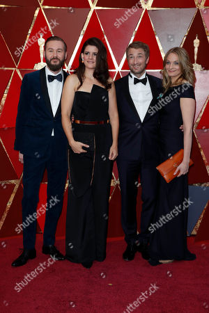 (L-R) Felix Striegel, Katja Benrath, Tobias Rosen and Julia Drache arrive for the 90th annual Academy Awards ceremony at the Dolby Theatre in Hollywood, California, USA, 04 March 2018. The Oscars are presented for outstanding individual or collective efforts in 24 categories in filmmaking.