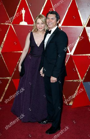 Yvonne Boismier Phillips (L) and Lou Diamond Phillips arrive for the 90th annual Academy Awards ceremony at the Dolby Theatre in Hollywood, California, USA, 04 March 2018. The Oscars are presented for outstanding individual or collective efforts in 24 categories in filmmaking.