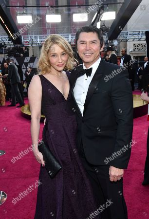 Lou Diamond Phillips, Yvonne Boismier Phillips. Yvonne Boismier Phillips, left, and Lou Diamond Phillips arrive at the Oscars, at the Dolby Theatre in Los Angeles